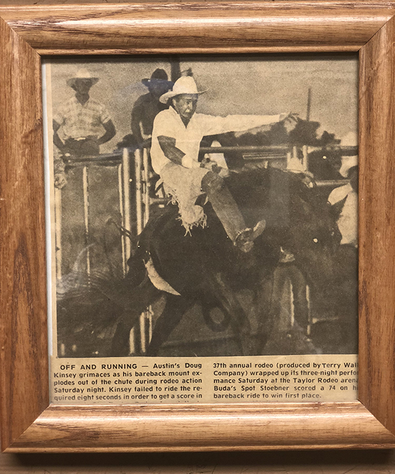 Douglas Kinsey Rodeo Newsclipping