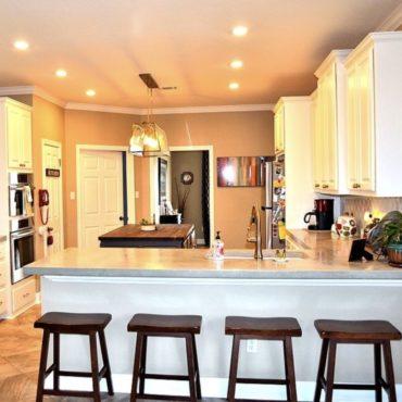 Elegant kitchen remodel design.
