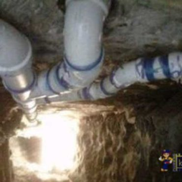 Professional Kinsey plumbers repaired drain pipes.
