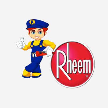 Kinsey Plumbing recommends Rheem water heaters.