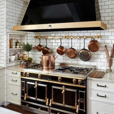 Elegant kitchen stove area remodel design