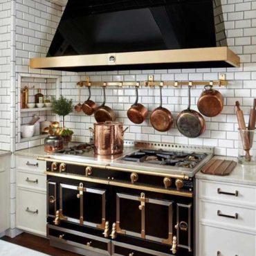 Elegant kitchen stove area remodel design